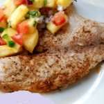 Spiced Tilapia with Mango Avocado Chutney
