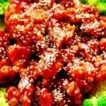 General Panda's Spicy Garlic Honey Sesame Chicken