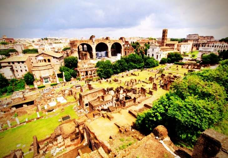 View of the Forum from Palatine Hill