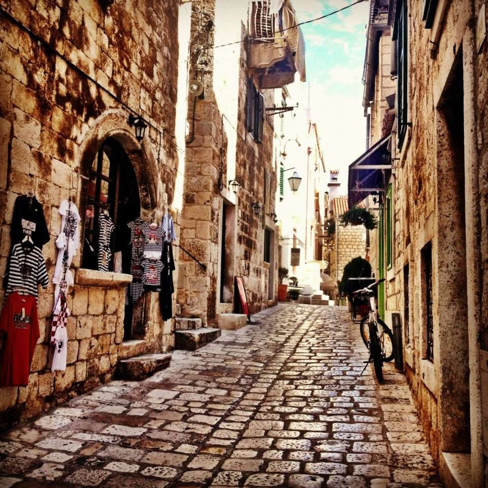 Exploring the winding medieval streets of Hvar