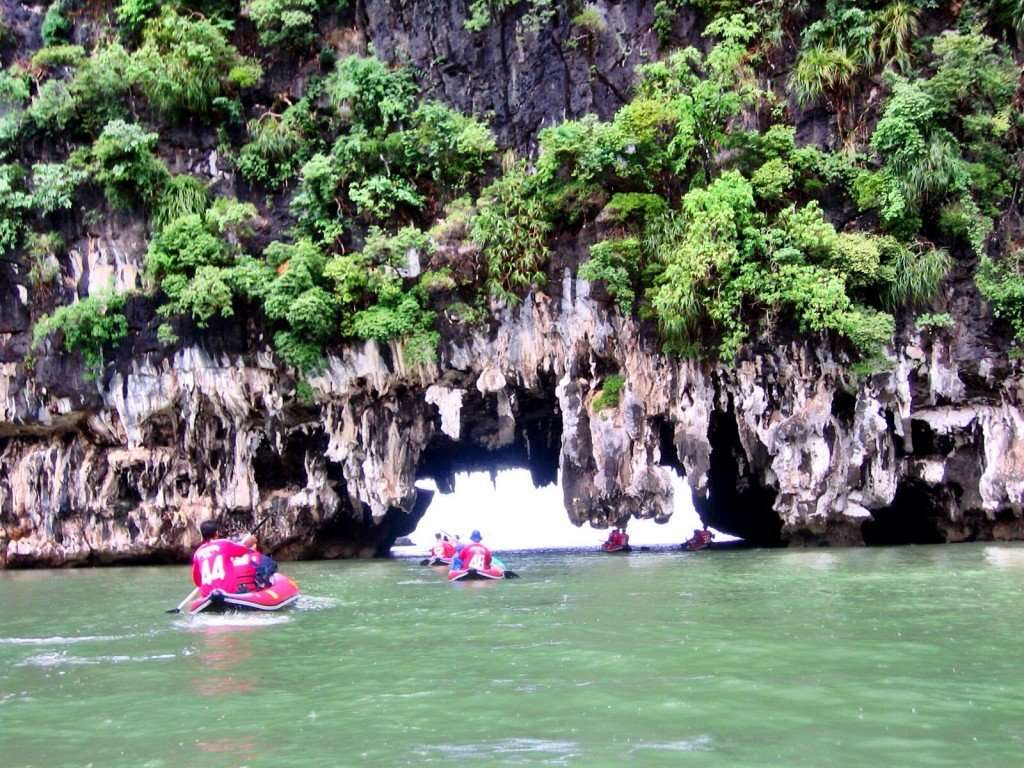 Sea kayaking through the caves of Phang Nga Bay - amazing!
