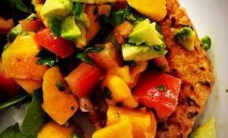 Paleo Pork Chops with Mango Avocado Salsa