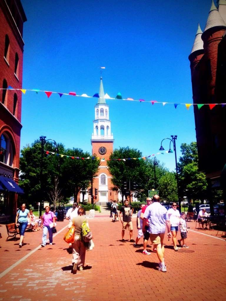 Charming Burlington town square